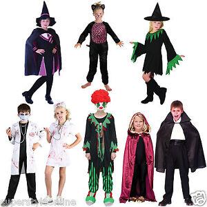 Kids-HALLOWEEN-Costume-GIRLS-BOYS-Halloween-Fancy-Dress-Age-3-16-Years