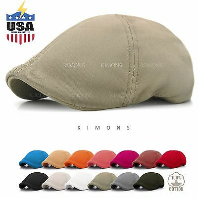 755bcbcb Solid Cotton Gatsby Cap Mens Ivy Hat Golf Driving Summer Sun Flat Cabbie  Newsboy