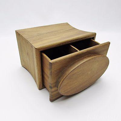 Ironwood Gourmet Tea Bag Sorter Wood Box, Wooden Divided Drawer