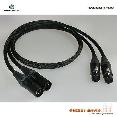 2x 10m sym XLR Kabel ALBEDO SCHWARZ Gold 3pol Sommer Cable High...