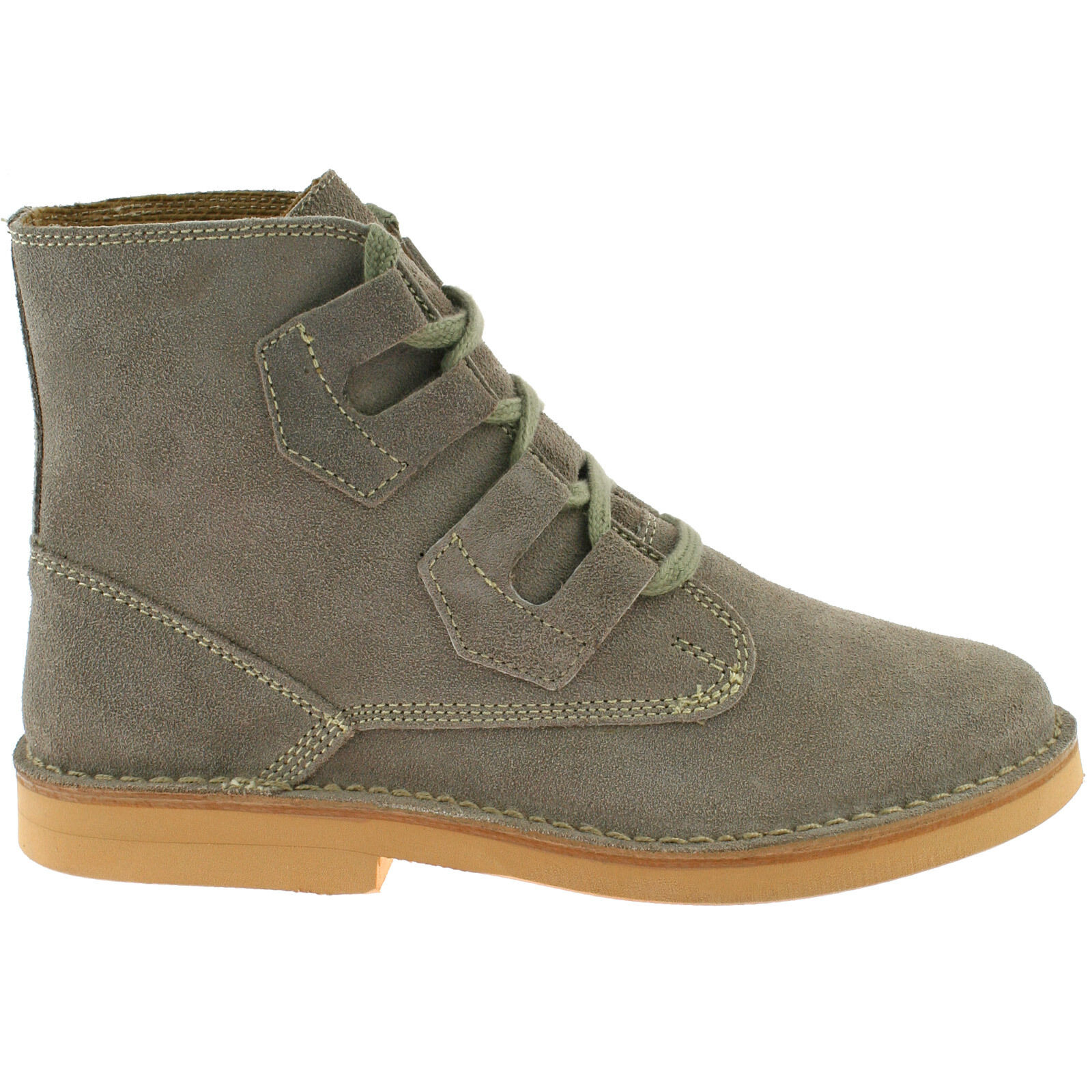 Roamers Ghillie lacets casual daim cuir homme chaussures desert bottes UK6-12