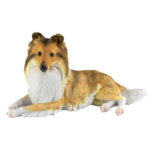"Sheltie Shetland Sheepdog Collie Dog Figurine 9.75""L Resin Statue New In Box!"