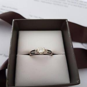 Michael Hill 18 ct white gold princess cut engagement ring Mawson Lakes Salisbury Area Preview