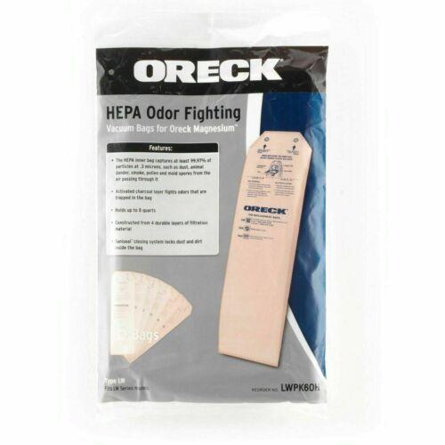 6 Pack Oreck Upright Type LW Odor HEPA Vacuum Cleaner Bags Magnesium LWPK60H