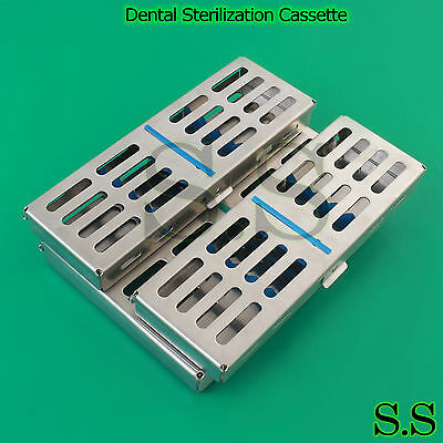 9 Pcs Dental Sterilization Cassettetraybox For 107-5 Instruments