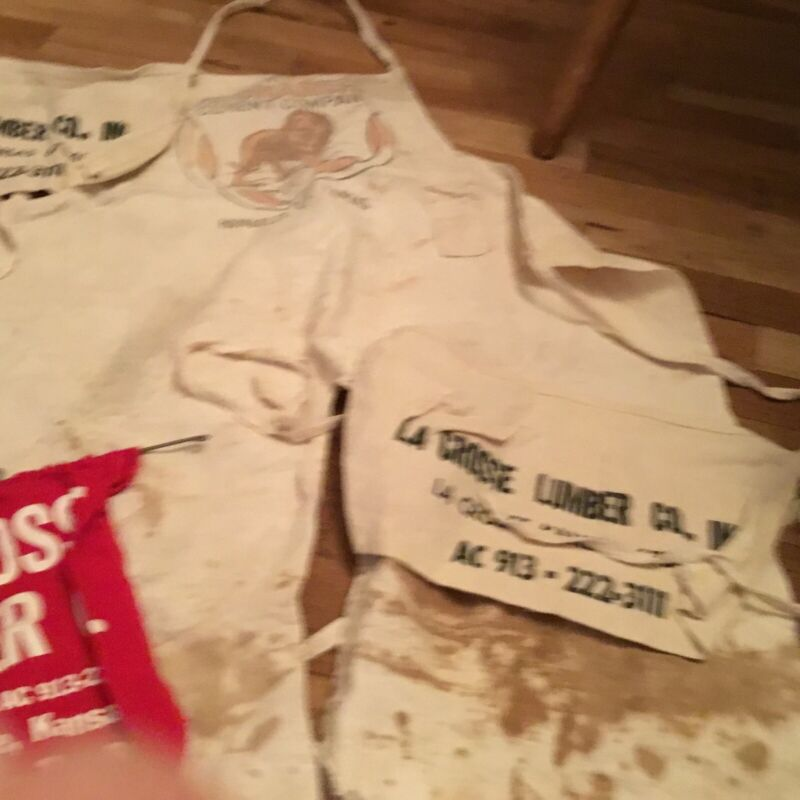 Vintage Monarch Cement Company Yard Aprons, Plus Three Others