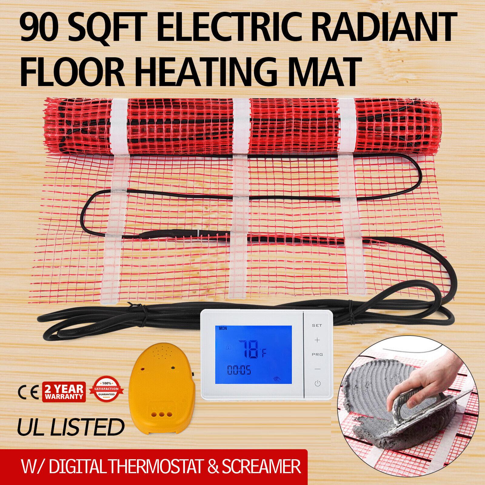 ELECTRIC RADIANT WARM  FLOOR TILE HEAT SYSTEM 60 Sqft 240V THERMOSTAT