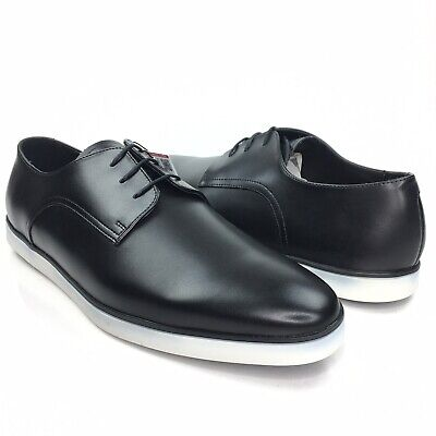 Zara Man Black Classic Almond Toe Lace Up Oxford Dress Shoes Size 42/45/46 EUR