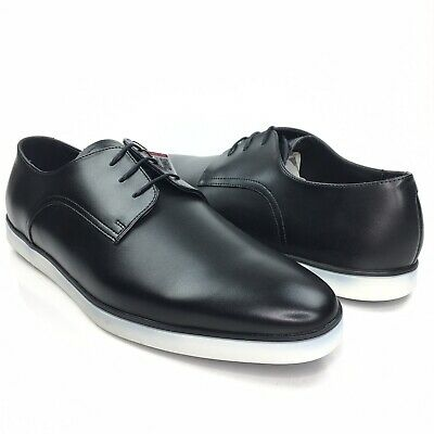 Zara Man Black Classic Almond Toe Lace Up Oxford Dress Shoes Size 42/45/46 EUR