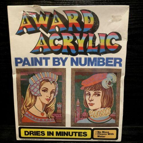 Vintage 1976 Paint By Number Romeo & Juliet Sealed Pkg Award Acrylic Kit AC-1006