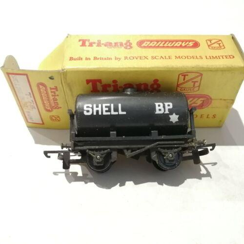 Tri-ang - T.75 Black Shell BP Fuel Oil Tanker Wagon - TT