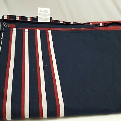 Nautica Duvet Cover Queen Blue Red White Stripped Comforter Cover 86 x 96
