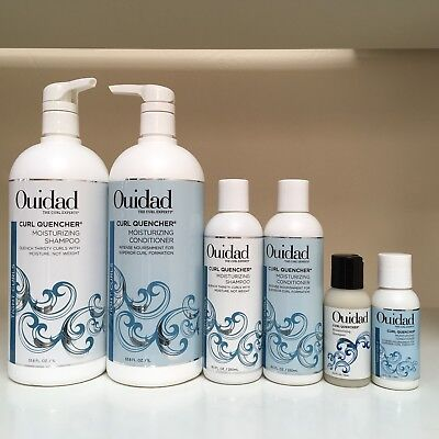 (Ouidad Curl Quencher Moisturizing Shampoo & Conditioner SET 33.8, 8.5 Or 2.5 oz!)