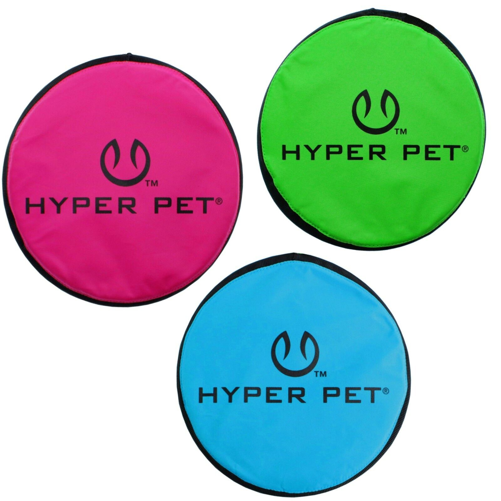 Hyper Pet Flippy Flopper Soft Dog Frisbee Interactive Dog To