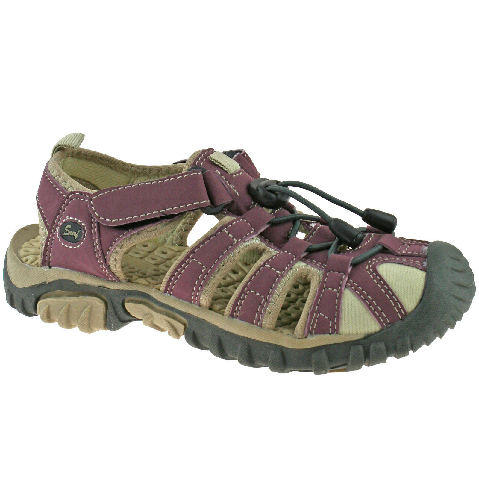 Ladies PDQ Walking Sports Enclosed Sandals Pumps Grey Blue Size 3-9 uk