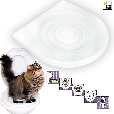 Katzen WC-Sitz Toiletten Training System Katzentoilette Katzenklo Toilettensitz