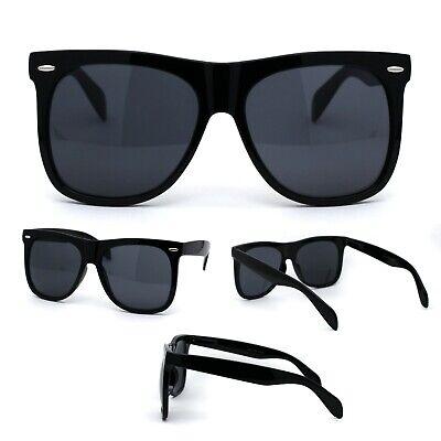 All Black Classic Oversize Hipster Geeky Nerd Horn Rim Plastic (All Plastic Sunglasses)