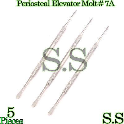 5 Pcs Periosteal Elevator Baby Molt 7a Dental Instruments