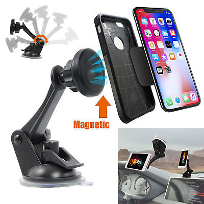 - 360º Car Windshield Dashboard Suction Cup Magnetic Mount Holder For Cell Phones