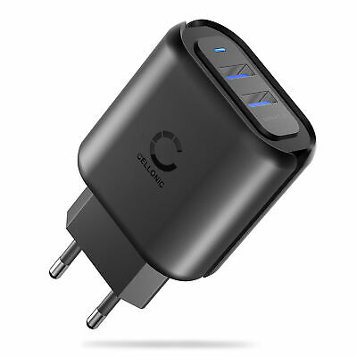 Cargador Rapido 4.8A 2x Puerto USB Alimentador multipuerto Adaptador corriente