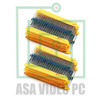 2600 Pcs 130 Values 14w 0.25w 1ohm 3m Resistor Resistors Kit Assortment Set