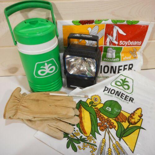 Pioneer Seed Advertising Lot Work Gloves Igloo Thermos Lantern Bags Pencil
