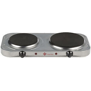 2500W ELECTRIC TWIN HOB DUAL DOUBLE HOT PLATE TABLE TOP HOTPLATE PORTABLE COOKER