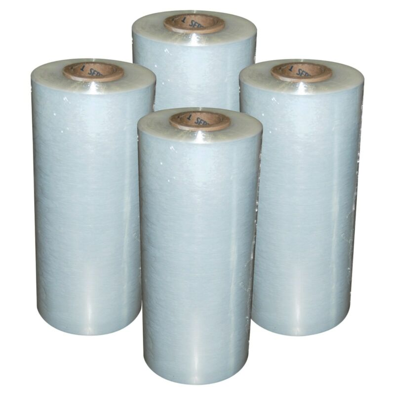 "(4) Rolls Hand Stretch Wrap Film Banding 18"" x 1500"