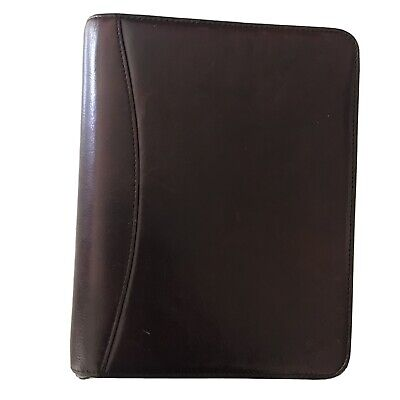 Franklin Covey Classic 7 Ring Planner Full Grain Leather 10 12x8 Binder Only