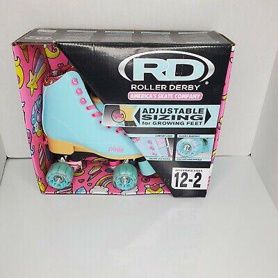 Roller Derby Blue Pink Roller Skates girls PIXIE Adjustable Sizes 12-2