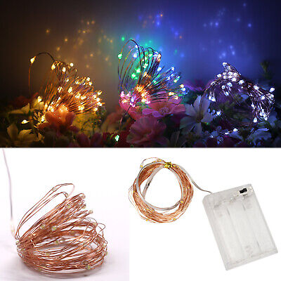 Diy Halloween Porch Decorations (LED Strip String Fairy Light Copper Wire Battery Powered Xmas Party DIY Decor)