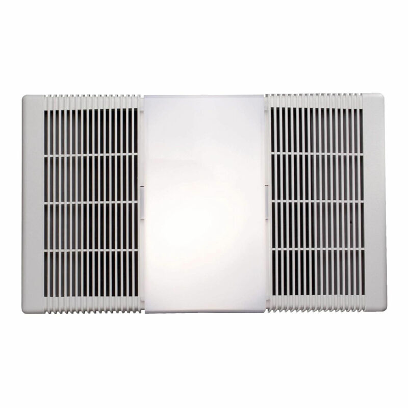 Broan Bathroom Bath Ceiling Exhaust Fan Vent Heater and Light, White (Open Box)