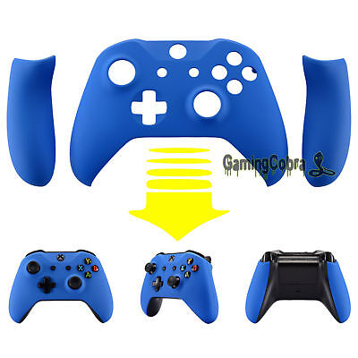 Blue Faceplate Cover with Soft Grip Side Rails for Xbox One S Remote Controller