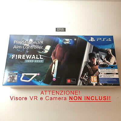 PLAYSTATION VR AIM CONTROLLER Fucile + Firewall Zero Hour SOLO per VR PS4 -Nuovo