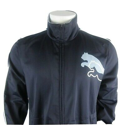 PUMA  Blue Full Zip Track Jacket Sweatshirt, Men's Size Large