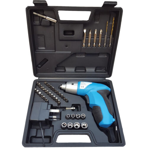 44+Pc+Rechargeable+Cordless+4.8v+Electric+Screwdriver+Tool+Bit+Kit+%2B+Charger+UK