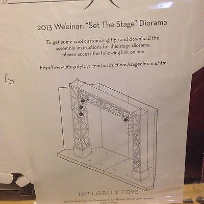 "Fashion Royalty W Club 2013 Webinar ""Set the Stage"" Diorama Blank Stage 1:6 Doll"