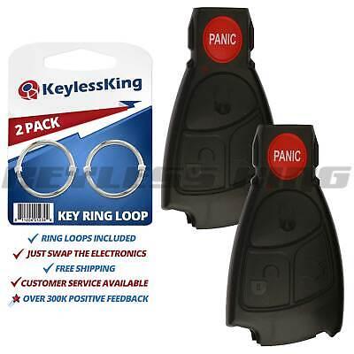 2 Replacement Smart Key Remote Keyless Case Button Shell Pad Fix Prox Intell