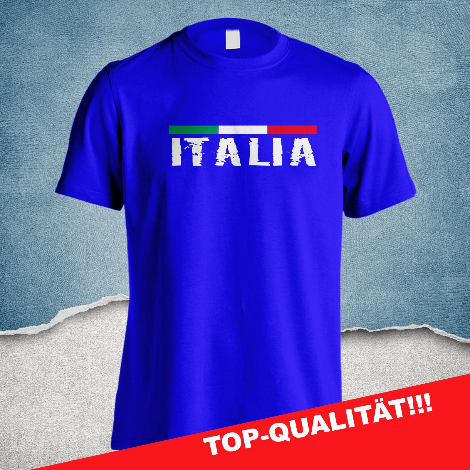 ITALIA T-SHIRT ITALIEN SQUADRA AZZURRA HOCHWERTIGE VERARBEITUNG S - 4XL ROM