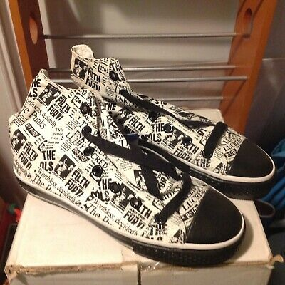 Draven SEX PISTOLS high top PUNK ROCK shoes THE FILTH & THE FURY SZ 6 Sneakers