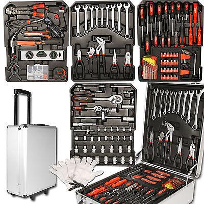 599 tlg Alu Werkzeugkoffer Werkzeugset Werkzeugkasten Werkzeugbox Werkzeug Set