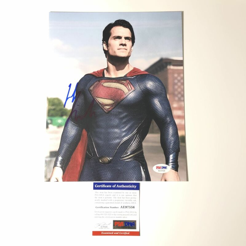 Henry Cavill signed 8x10 photo Superman PSA/DNA Autographed