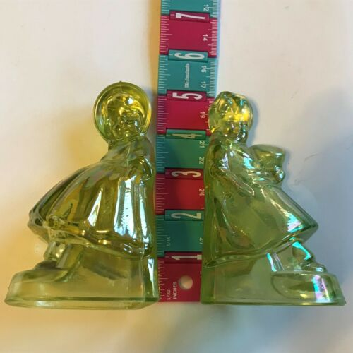 Vintage  Wheaton Carnival Glass Bookends
