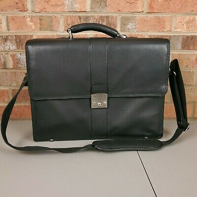 Samsonite by Heritage Leather Laptop Briefcase Black