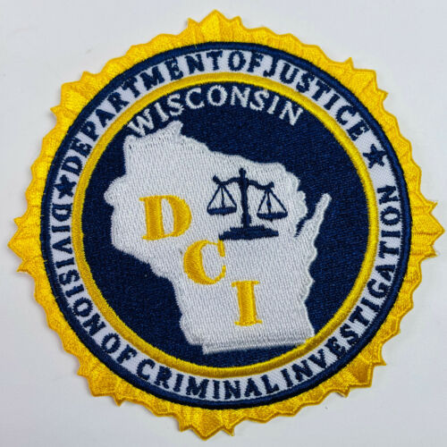 Division Of Criminal Investigation DCI Wisconsin WI Patch