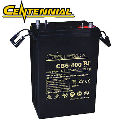 Centennial CB6-400 6V 400A Group Size L-16 AGM Sealed Lead Acid Battery for sale  North Las Vegas