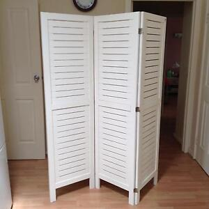 Privacy screen 3 fold (Freedom Furniture) Westminster Stirling Area Preview