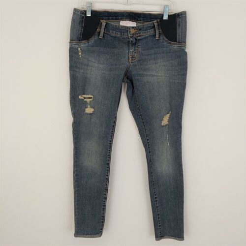 Isabel Maternity by Ingrid & Isabel Skinny Side Panel Jeans Size 8 Distressed