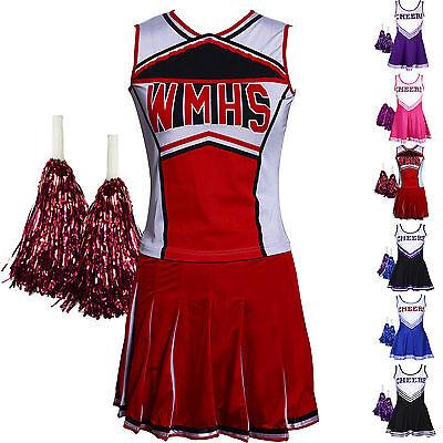 Verkleidung Kostüme (Mädchen Cheerleader Kostüm Uniform Cheerleading Cheer Leader Kostüm Verkleidung)