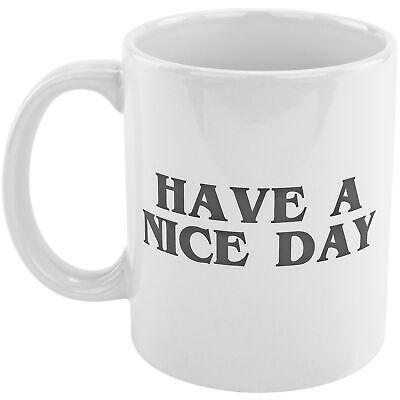 Have A Nice Day Middle Finger Novelty Prank Gag Joke Funny Coffee Tea Mug Cup Dinnerware & Serveware